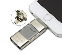 Wholesale usb 3 in 1 memory stick pen Drive Otg 16GB 32GB Phone OTG Usb Flash Drive u disk for Android iphone &PC