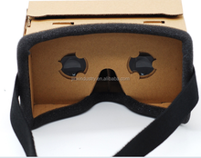 cheap paper Google cardboard VR 3D Virtual Reality box Glasses for smartphones made in China