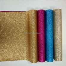 Hot selling thin glitter pu leather fabric upper material