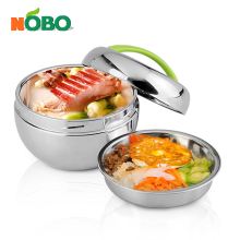 Stainless steel lunch box keep food hot apple shape bowl for school