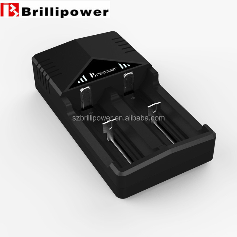 Brillipower BIC2 CE&Rohs&FCC 18650 12v Battery Charger compatible with 18650 lithium battery