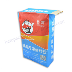 Industrial and building use 20kg ply kraft valve bag for packaging glue powder,cement and mortar