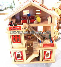 Handmade wooden toy doll house