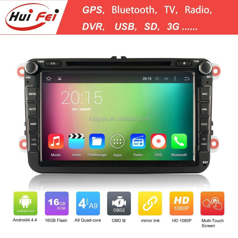 "8"" Touch Screen Tablet Car Video Interface For Tiguan Jetta Golf RK3188 Quad-core 2 Din"