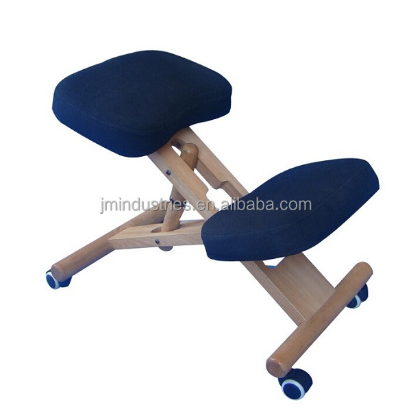 Height Adjustable Natural Fit Ergonomic Wood Kneeling Chair