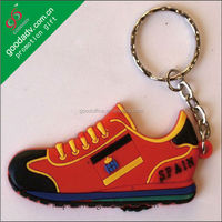 Guangzhou small gift 3d Cartoon running shoe keychain with logo