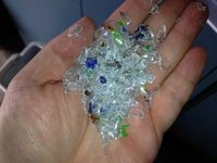 PET Flakes from bottle recycling