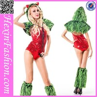 wholesale 3PC sex furry women sexy animal costumes with top hat