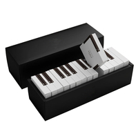 Custom piano style black and white design chocolate bar candy chocolate truffles packaging boxes