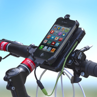 New Meilan X2 handlebar mounting placement bike phone holder with power bank light