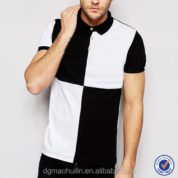 Latest French Connection Softextile Polo Shirt 100% Cotton Design with White Black Pattern