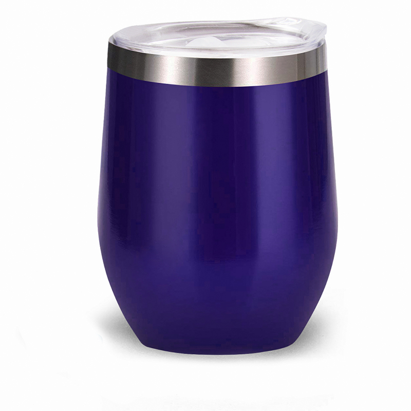Promo stainless steel wine tumbler with lid straw at factory price