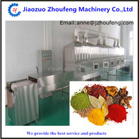 spices tunnel microwave sterilization machine hot selling