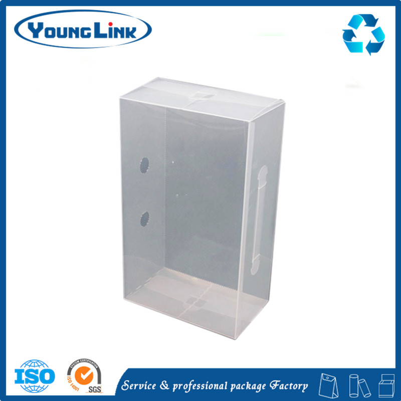 Clear transparent airtight plastic box with lock and wheels for storage