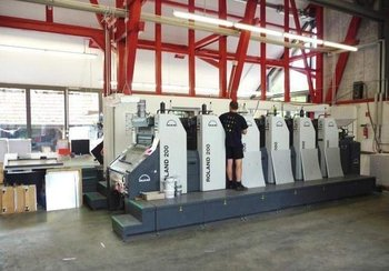 6-color offset printing press MAN-Roland R 206 E