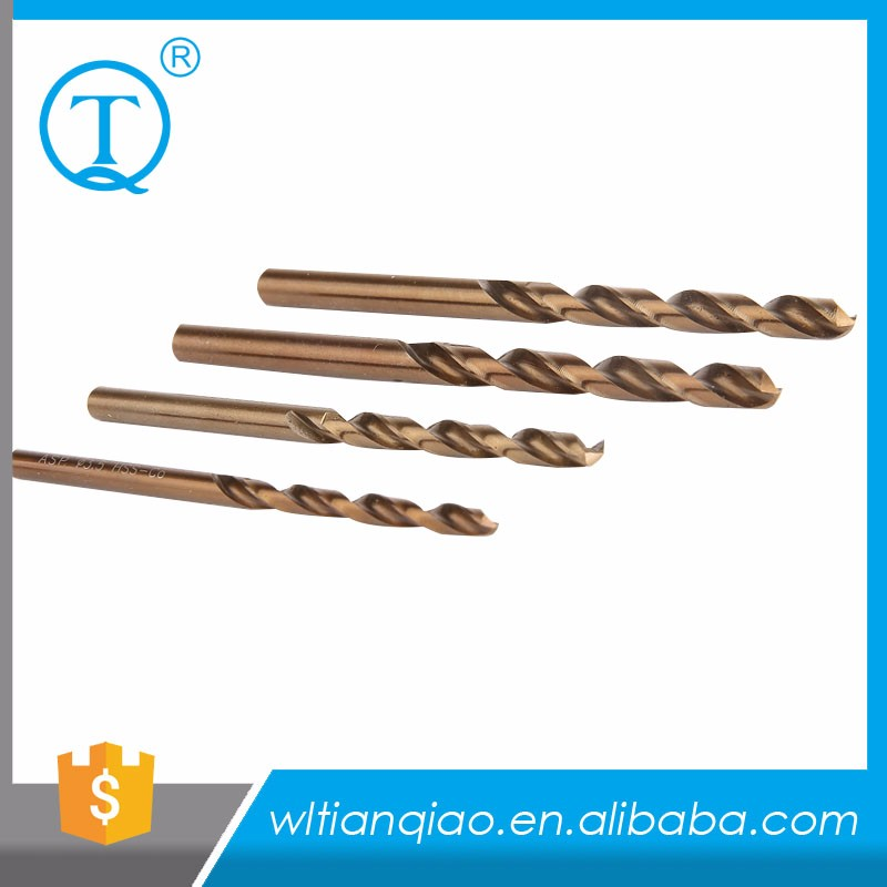 5% Cobalt M35 DIN338 fully ground best hss straight shank twist drill bit for stainless steel drilling