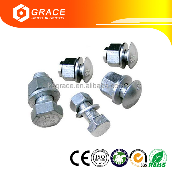ISO9001 Certificated Electric Power Iron Tower Insulation Bolt