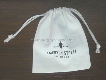 Small Cotton Drawstring bags, Muslin Bag with Printing