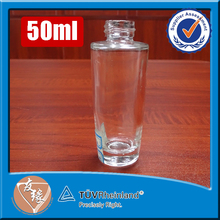 Screw top 50ml high flint round roll on perfume bottle glass