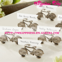 """Le Tour"" Mini Bicycle Place Card/Photo Holder Party Decoration Favors Metal Bike Card Holders"