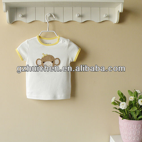 mom and bab 2013 summer 100% cotton baby wear,baby tshirt white,baby tshirt set