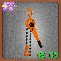 chain block and lever block, man lifting crane