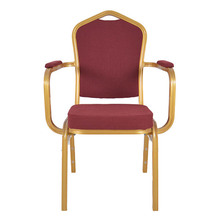 2017 Hot Sale Aluminium Frame Banquet Chair with Arms
