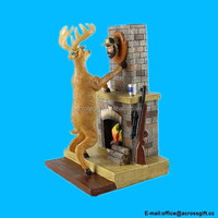Resin Deer Catch Hunter Trophy Mount Figure