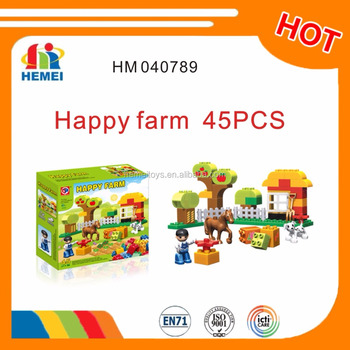Hemei creative farm building block toys 45pcs