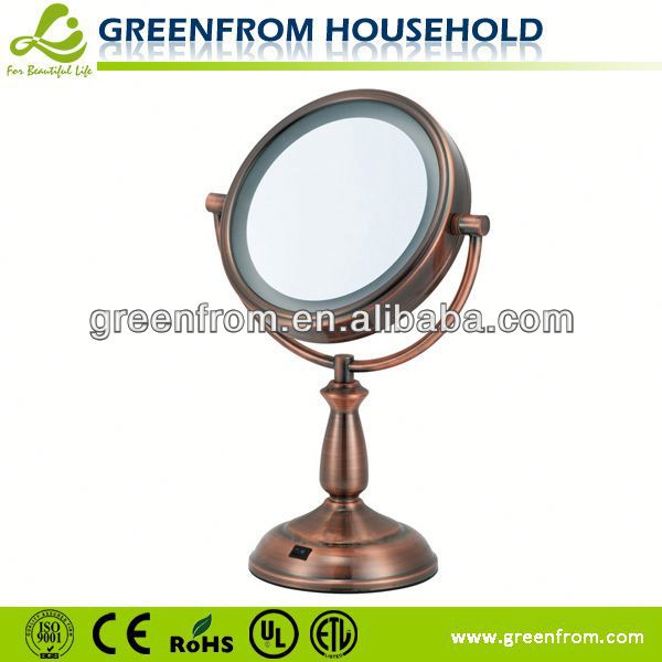 7.5 inch double side led standing gold mirror screen protectors