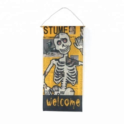 Halloween party decoration skull hanging flag