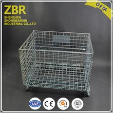 Galvanized Wire Storage Box Shipping Containers Iron Hanging Pallet Mesh Container for Large Scale