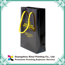 Customized paper material purse gift and mint paper bags with rope handl