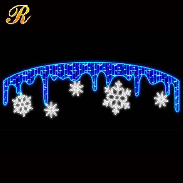 outdoor christmas street light decoration/IP44 waterproof decorative street motif lighting