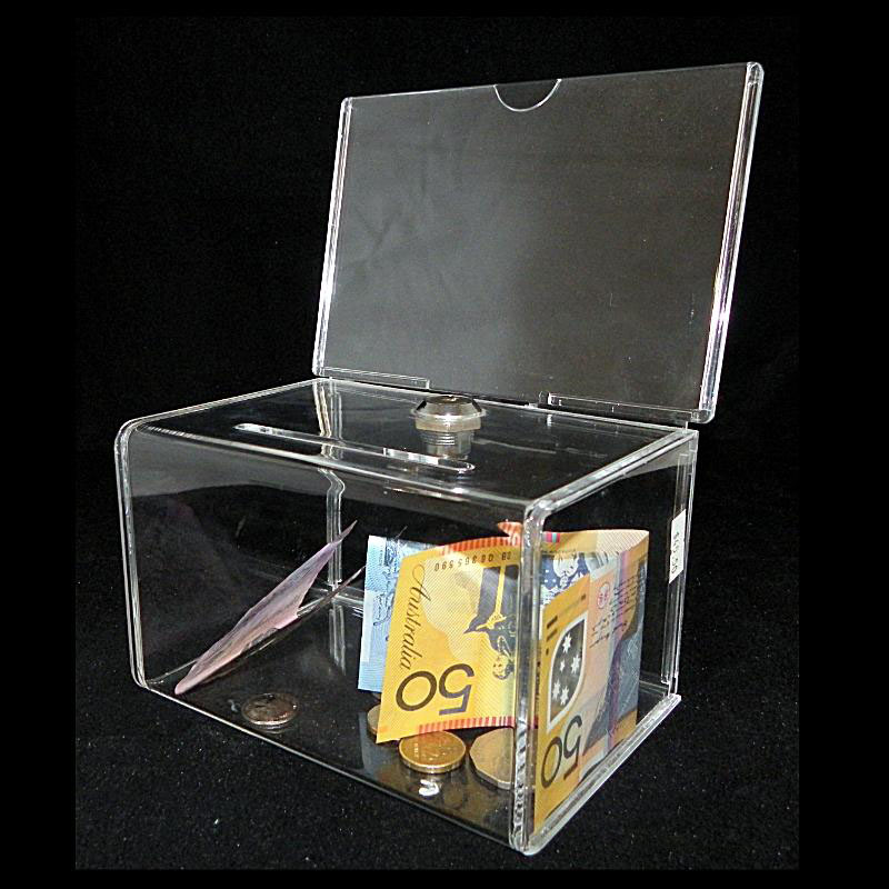 Acrylic Offering Boxes : High quality wholesale acrylic donation box with lock
