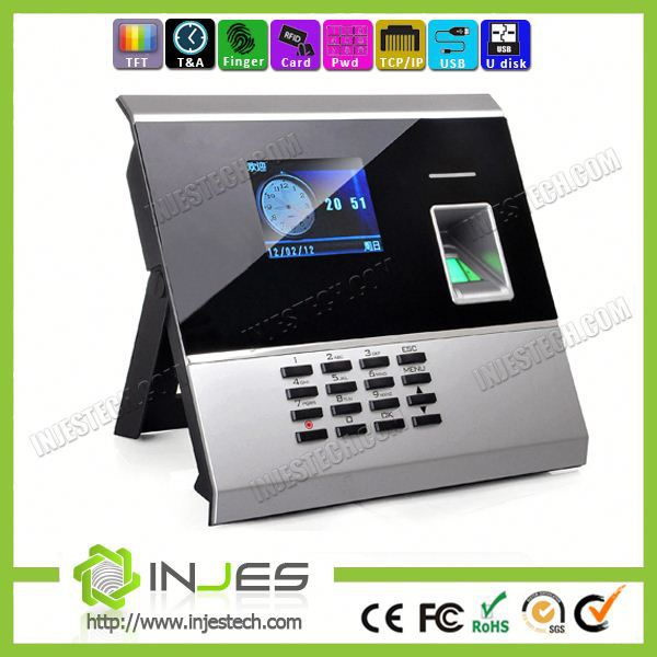 2014 new products Fingerprint Employee Free SDK TFT screen TCP IP online timesheet calculator