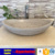 Boat shape marble sinks for bathroom