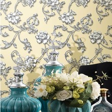106cm MOONRIVER 2015 interior pvc house decoration 3d wall paper price flower design ningbo
