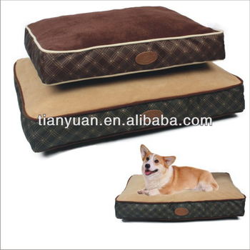 Check Print Orthopedic Royal Comfortable High Quality Sofa Custom Dog Bed Luxury