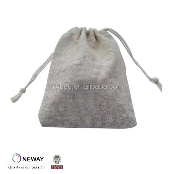 2015 China Price Quality Custom Linen Gift Pouch Bag/Cheap Linen Drawstring Pouches/Cotton Linen Gift Pouch Bag