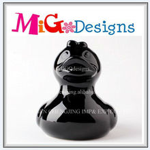 Promotional Gift Ceramic Duck Funny Coin Bank With Factory Manufacture
