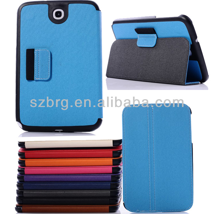 Western Cowboy leather flip stand cover case for Samsung galaxy note 5100 with stylus holder design