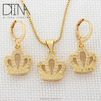 Wholesale jewelry gold plated earrings and pendant sets