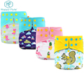Happyflute Waterproof Washable suede Cloth Diapers pant For Baby