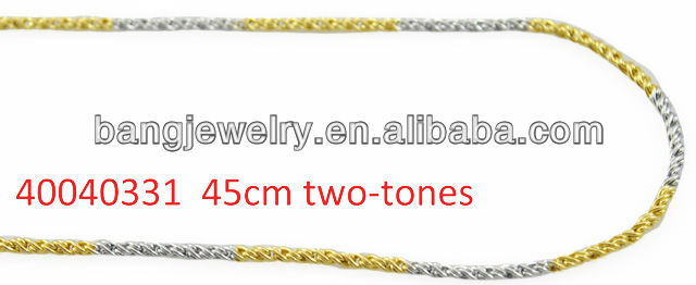Ladies color gold necklace imitation jewelry machine