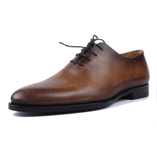 Wholesale Manufacturer New Italy Design Pointed Toe Lace Up Oxfords Cow Leather Men Dress Shoes