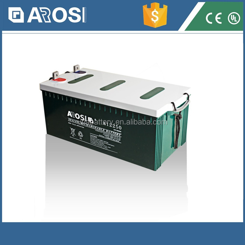 12V AGM Rechargeable Storage Battery powered led light box 250ah