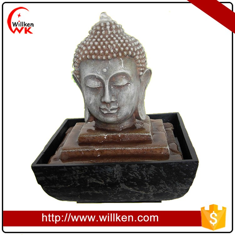Classical Design Resin Buddha Head Water Fountain