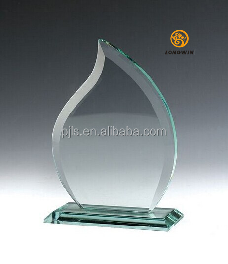 Custom design sport souvenirs blank award crystal glass medal and trophy award