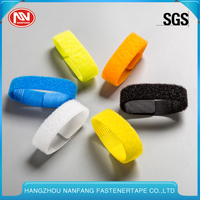 Customized Colorful Nylon Hook And Loop Cable Tie For Velcro